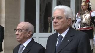 Saluto di congedo del Presidente Mattarella al Presidente della Tunisia
