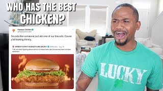 FOOD CLAPBACKS | Popeyes Chicken VS Wendys VS Chick-Fil-A | Alonzo Lerone