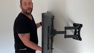 Fernseher Wandhalterung TV Wandhalterung Schwenkbar Neigbar Ausziehbar, Flatscreen Montage Anleitung