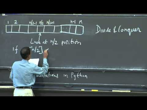 Lecture 1: Algorithmic Thinking, Peak Finding | Lecture Videos
