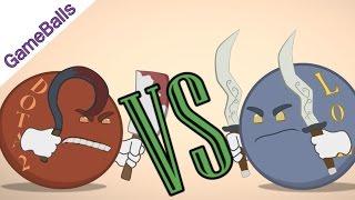 Дота2 против Лиги Легенд - GameBalls