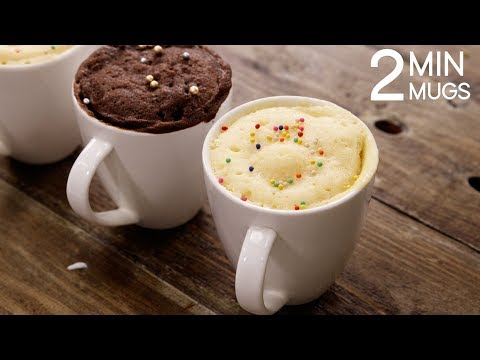 2 Min Mug Cake Recipe - Super Soft & Rich Eggless Microwave Cakes - CookingShooking