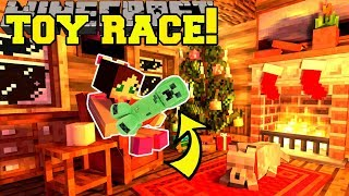 Minecraft: TOY COLLECTING RACE!! (FIND THE MOST TOYS!!) - Christmas Collecting - Custom Map