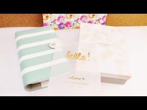Webster's Pages Personal Planner Unboxing   Evas neuer Organizer   Teal & White   Kalender & mehr
