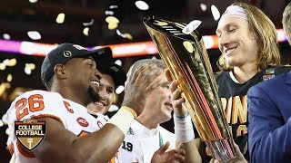 Clemson receives the CFP National Championship Trophy   College Football