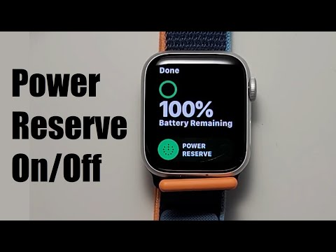 Apple Watch How to Turn Off / On Power Reserve