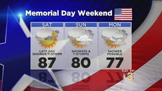 Memorial Day Weekend Weather Forecast: Warm With Possible Showers