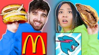 McDONALDS vs MRBEAST BURGER Food War! Taste Test Eating Challenge for 24 Hours by Spy Ninjas