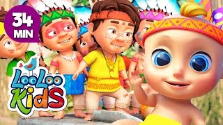 Ten Little Indians -  Educational Songs for Children | LooLoo Kids
