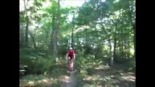 Riding the Green Pipeline on The Athens Trail Network. This video is from the top of the ridge where Finger Rock Trail starts and goes down to Strouds Run State Park in Athens, Ohio.