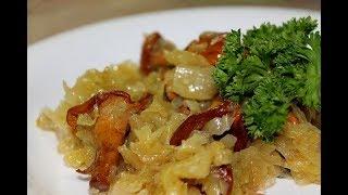 Невероятная вкуснятина!!! Тушеная в духовке капуста с грибами!