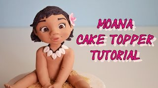 Disneys Moana Cake Topper Fondant - Oceania - Vaiana In Pasta Di Zucchero Torta