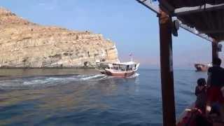 preview picture of video 'Delphine schwimmen im Meer  Ausflug Khasab Oman Traditionelle Bootsfahrt durch die Fjordwelt'