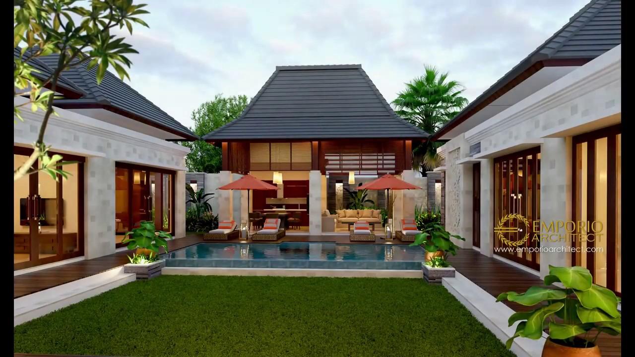 Video 3D Desain Rumah Villa Bali 1 Lantai Bapak Fahrul di Maluku