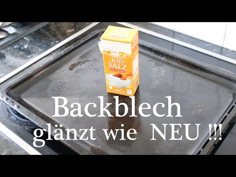 Backblech glänzt wie NEU ! mit Wundermittel Salz ! - Baking Sheet shines like NEW! With miracle salt