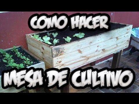 Como Hacer Una Mesa De Cultivo Con Palets || Huerto Urbano || La Huertina De Toni
