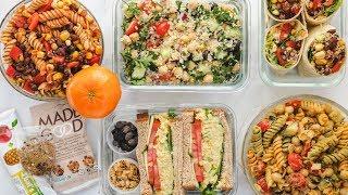 Vegan School/Work Lunch Ideas   Weekly Meal Plan