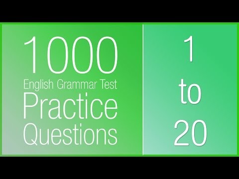 [1-20] 1000 English Grammar Test Practice Questions - YouTube