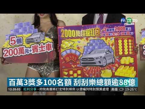 新春刮刮樂曝光 首創送百萬名車  華視新聞 20190103