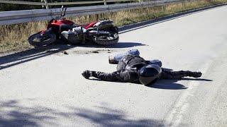 Подборка ДТП и Аварии с мотоциклами за Август 2016 Moto Crash Compilation