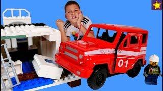 Машинка Пожарный УАЗ МЧС Спешит на помощь Видео для детей Cars Toys for kids