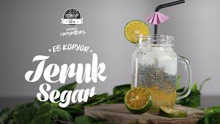 SEDAP SKOY: Resep Es Kopyor Jeruk Segar, Minuman yang Segar dan Manis