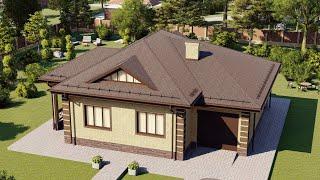Проект дома 123-G, Площадь дома: 123 м2, Размер дома:  14,8x12,7 м
