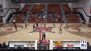 Volleyball Sectional Argos vs Oregon Davis