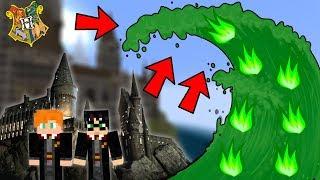 HARRY POTTER SVĚT VS OHNIVÉ ZELENÉ TSUNAMI - Minecraft Challenge w/ Vitaa