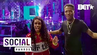 Throwback | VR180 BTS: Jess Hilarious and DC YoungFly Snap on Each Other | The Social Awards