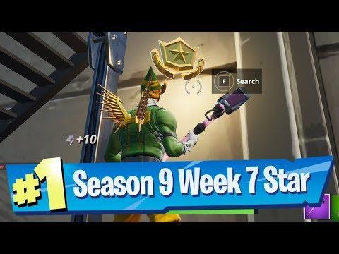 Fortnite Season 9 Week 7 Loading Screen Battle Pass Star Location