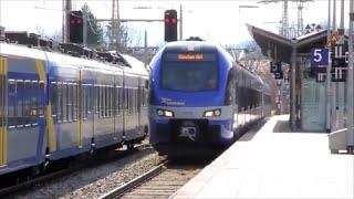 preview picture of video 'Zwei Meridians im Begegnungsverkehr in Holzkirchen'