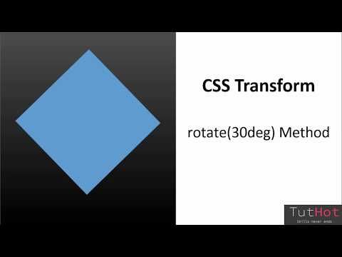 CSS Transform - Rotate Method