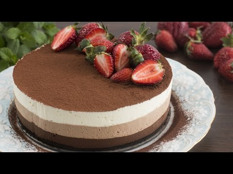 Video No-Bake Triple Chocolate Mousse Cake Recipe