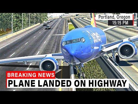 Boeing 737 made UNBELIEVABLE Landing on HIGHWAY in Portland | X-Plane 11