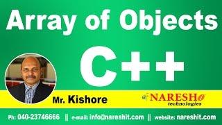 Array of Objects in C++   C ++ Tutorial   Mr. Kishore
