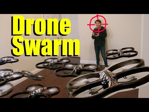 This madman created a swarm of drones with face recognition that kamikaze into people.