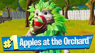 Consume Foraged Apples at The Orchard Location - Fortnite Battle Royale (Trick Shot Challenge)