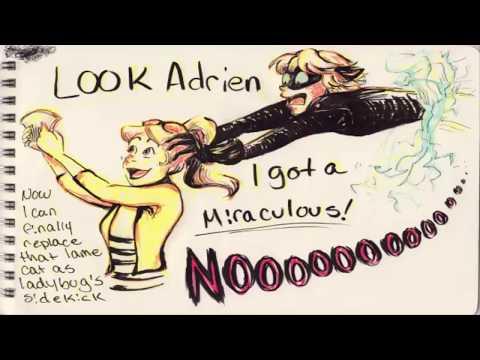 "Miraculous Ladybug Comics Chat Noir ""Look Adrien I Got A Miraculous"""