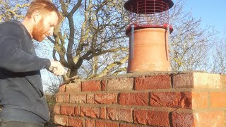 Building a brick chimney. | The skill of bricklaying
