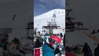 Аттракцион смерти в Грузии Шок маты горнолыжный курорт подъемник жесть