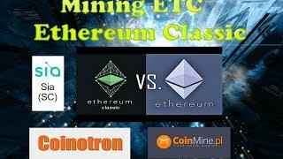 MINING Ethereum Classic (ETC) + SIA + DCR