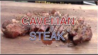 Steak im Caveman Style grillen Höhlenmenschensteak nach Raichlen --- Klaus grillt