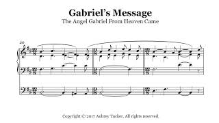 Organ: The Angel Gabriel From Heaven Came (Gabriel's Message) - Christmas Carol
