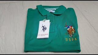 U.S. Polo Assn. Men Green Polo T-shirt Unboxing