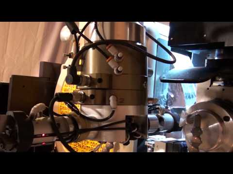 Infeed Centerless Grinding a fluid dispensing nozzle on a Royal Master Centerless Grinder