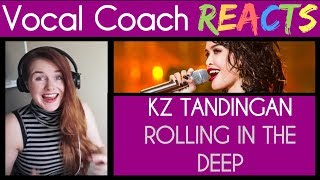 Vocal Coach Reacts to KZ Tandigan, Rolling in the Deep
