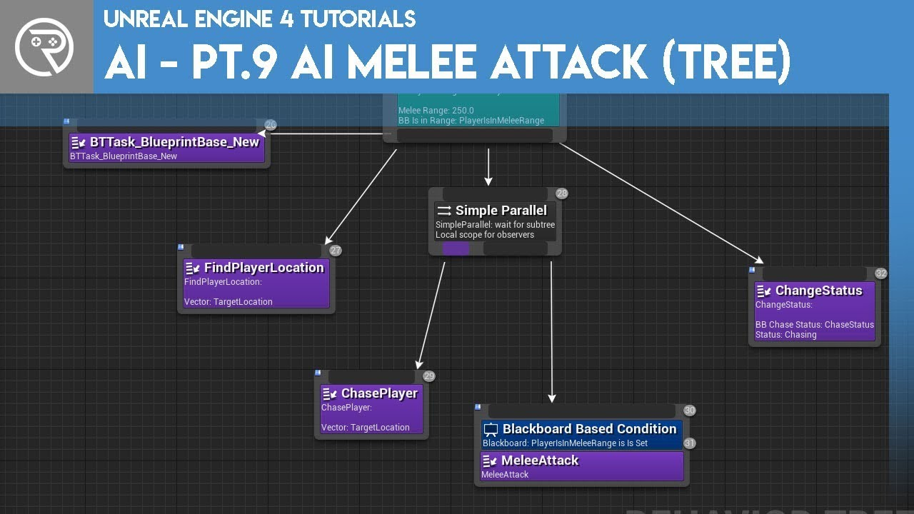 Unreal Engine 4 Tutorial - AI - Part 9 Melee Attacks (Behaviour)