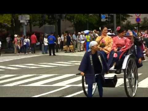 横浜市立西谷中学校吹奏楽部・横浜夢座 Yokohama Parade 2014 (Super 34-35) ザよこはまパレード2014