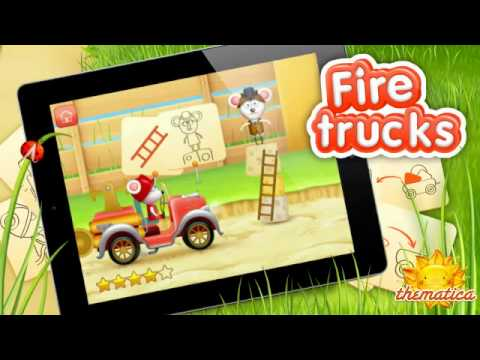 Video of Firetrucks: rescue for kids